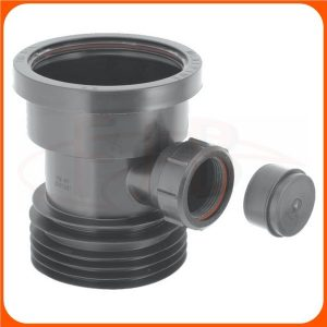 DC1-BL-BO Mca 110m Drain Connector with Boss Black