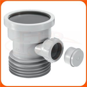 DC1-GR-BO Mca 110mm Drain Connector with Boss Grey