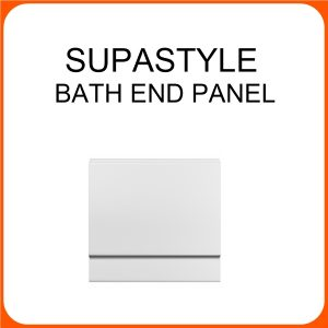 SUPASTYLE 800MM END PANEL WHITE