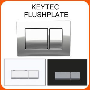 WALL HUNG WC FLUSH PLATE