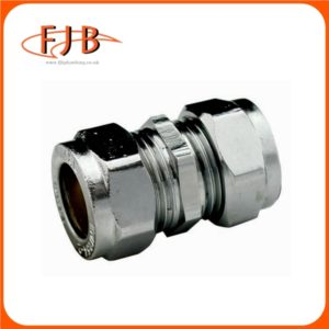 CHROME COMPRESSION COUPLING 54MM